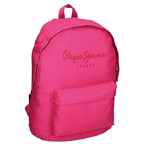 Pepe Jeans Plain Color Mochila Escolar, 21.5 litros, Color Rosa