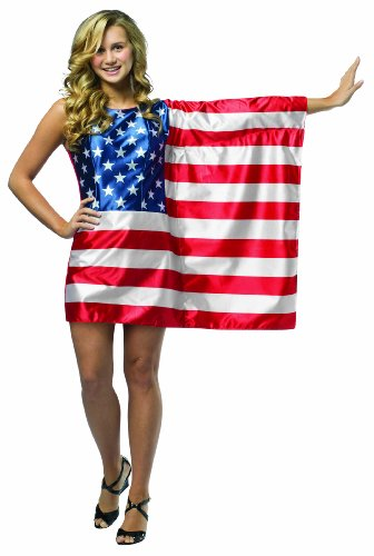 Rasta Imposta Kleid US-Flagge rot/weiß/blau (Us Flagge Kleid)