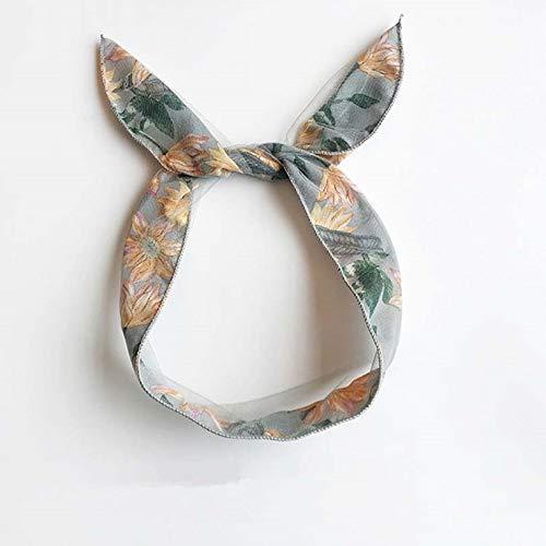Mode Kaninchen Ohren Scrunchie Frauen Mädchen Bogen Stirnband Für Mädchen Und Frauen Air Head Bands Reifen Zubehör Für Frauen Hairband Kopfschmuck (Color : 3) ()
