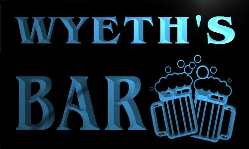 w035858-b-wyeth-name-home-bar-pub-beer-mugs-cheers-neon-light-sign