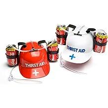 Thirst Aid Helmet PT7290 - Casco con reposalatas y pajitas cfe57939693
