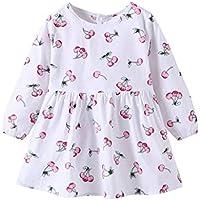 Taylorean_Baby Clothes - Abrigo - Bebé-Niñas, Otoño/Invierno, Bebé-Niñas, Color White 01, tamaño 130 cm (4-5 años)
