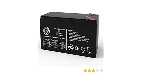 This is an AJC Brand Replacement Eaton EX EXB 1000 12V 9Ah UPS Battery