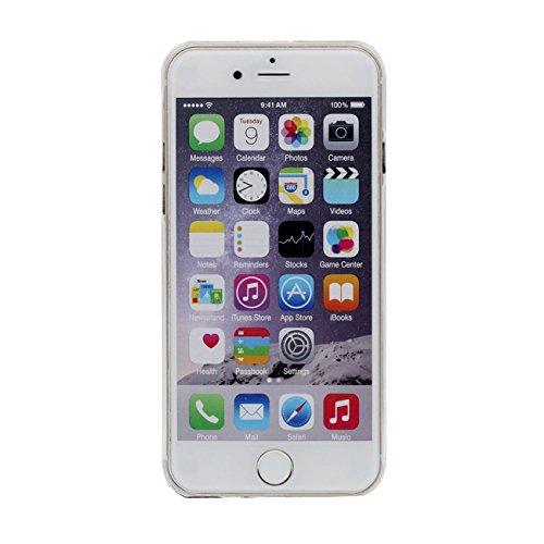 iPhone 6S Plus Custodia Apple iPhone 6 Plus 6S Plus 5.5 inch Cover Nero Sabbia Stelle Flusso Duro Trasparente Acqua Liquida Ragazza Modello iPhone 6 Plus Case X 1 Silicone Titolare color-5