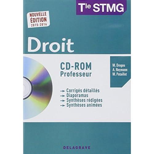 Droit Tle STMG : Professeur 2015 (1Cédérom) by Collectif (2015-07-08)