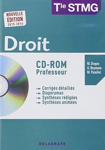 Droit Tle STMG : Professeur 2015 (1Cédérom) by Collectif (2015-07-08) par Collectif