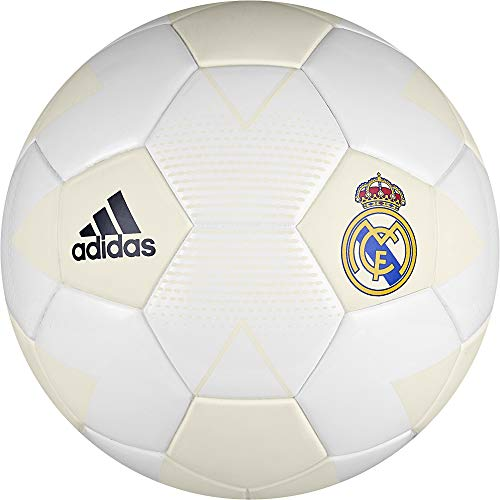 adidas Herren Real Madrid Mini Fußball, Cream White/Grey One/Black, 1 -