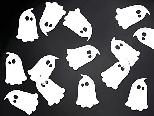 Geist Gespenster Konfetti Folienkonfetti 3,7cm x 2,5cm 20 Stück Horror-Grusel-Party-Deko Palandi® ()