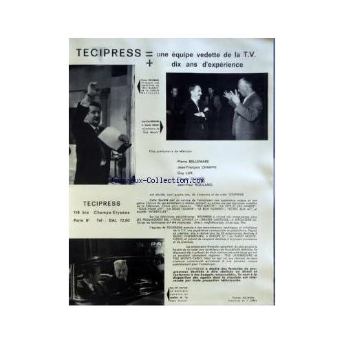 MIROIR DE L'INFORMATION DE LA PUBLICITE ET DES RELATIONS PUBLIQUES (LE) [No 202] du 27/10/1961