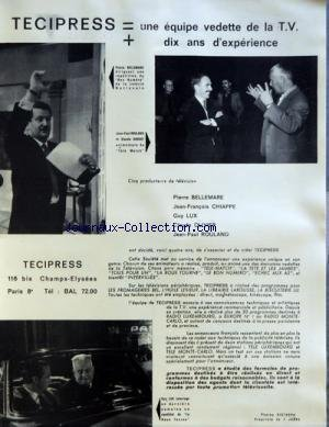 MIROIR DE L'INFORMATION DE LA PUBLICITE ET DES RELATIONS PUBLIQUES (LE) [No 202] du 27/10/1961 par COLLECTIF
