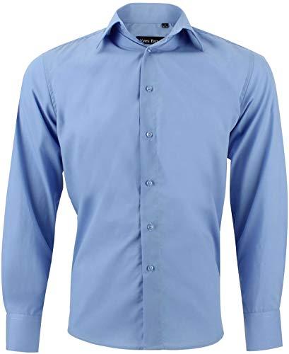 Camicia uomo classica blu regular fit confortevole e elegante con maniche lunghe taglia m