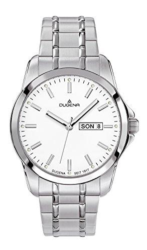 Dugena Hombre Reloj de pulsera deportivo de elegante analógico de cuarzo Acero inoxidable 4460560
