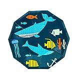 Hacoly 8 Pezzi Piastra USA e Getta Partito Pesce Disposable Paper Plates Dinnerware Plates for Party Picnic-23cm