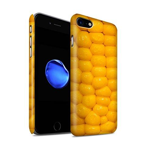 STUFF4 Matte Snap-On Hülle / Case für Apple iPhone 8 / Pasta Farfalle Muster / Lebensmittel Kollektion Maiskolben