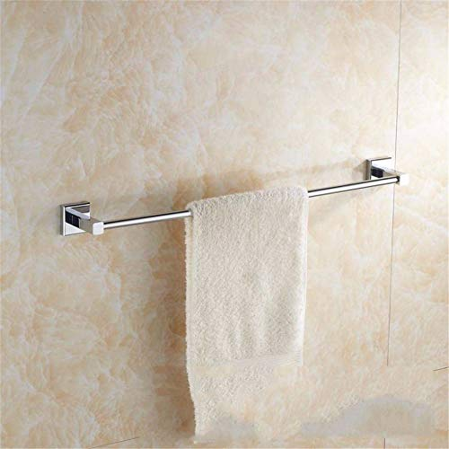 Bathroom Accessories Badaccessoires Sets Europäischen ssischen Kupfer Chrom Badezimmer Zubehör Set Square Base Haken Handtuchring, Single Rod -