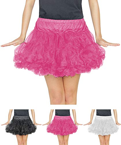 (Foxxeo pinkes Damen Tutu für Ballet Fasching Karneval Tüll Rock kurz pink)
