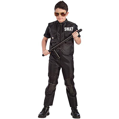 Carnival Toys 65896 - Polizist Swat Team, Kinderkostüm, 12-13 Jahre