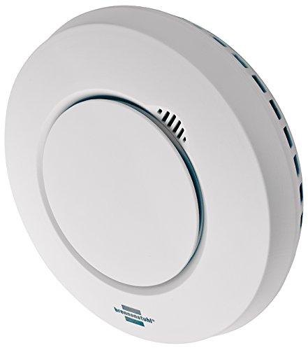 Brennenstuhl Brematicpro Funk-Rauch- und Hitzewarnmelder (Smart Home Rauchmelder mit App-Funktion) weiß
