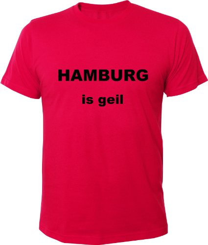 Mister Merchandise Cooles Fun T-Shirt Hamburg is geil Pink