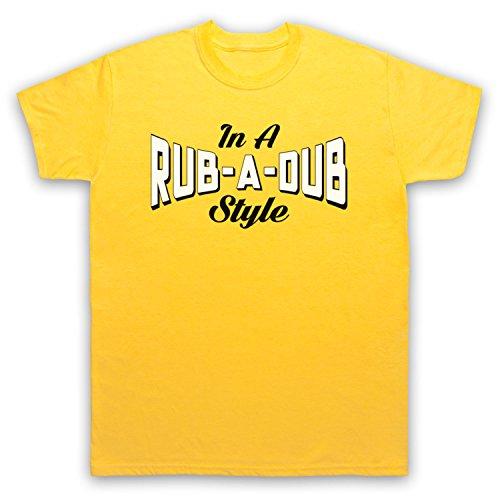 In A Rub A Dub Style Jamaican Reggae Music Herren T-Shirt Gelb