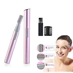 Women Beauty Lady Face Hair Electric Eyebrow Trimmer Shaver Remover Razor Set By PlatiniumTech