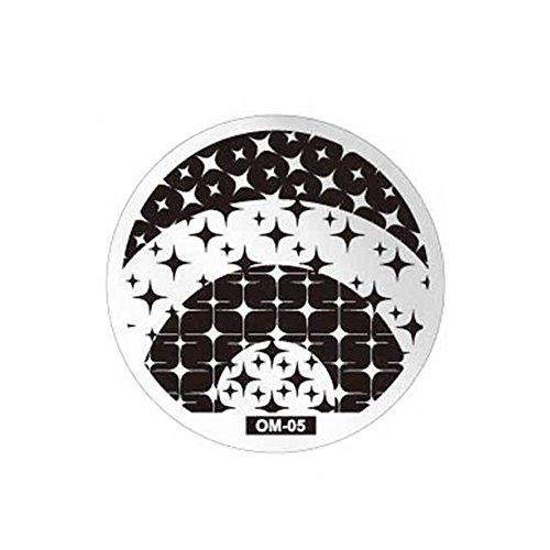 AIUIN 1pcs Bild Druckplatte DIY Blau Briefmarken Platte Maniküre Nail Art Dekoration von Nägel Stil 5