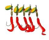 LENPABY 10 unids metal lentejuela spinner cuchara señuelos de pesca artificial peche wobble...