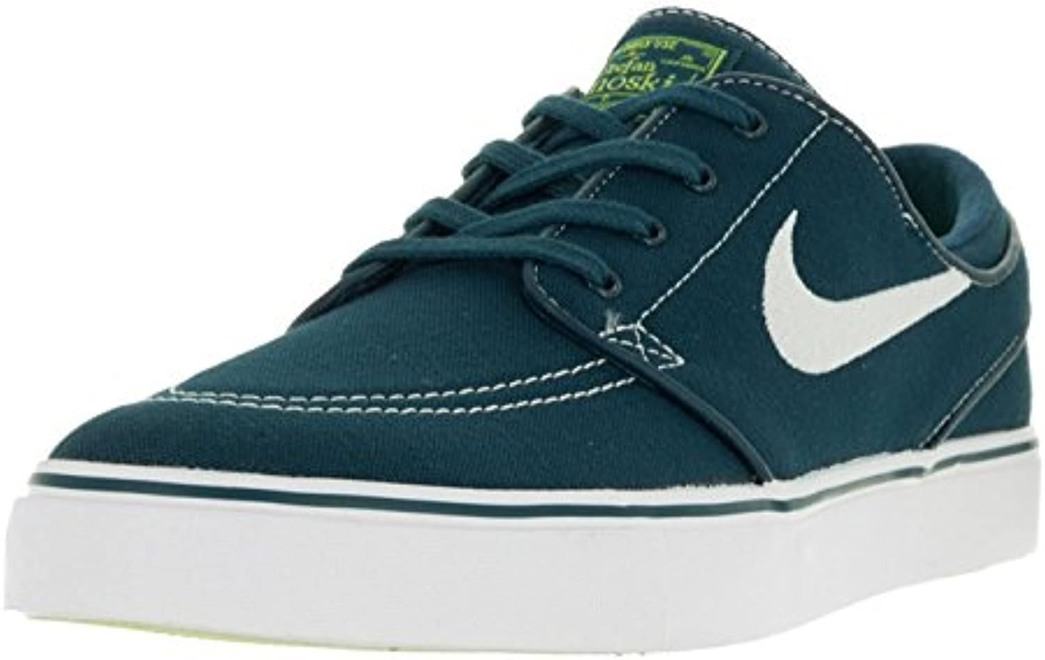 Nike Men's Stefan Janoski Canvas Skate Shoe, Midnight Turq/White/Volt/White, 42 D(M) EU/7.5 D(M) UK