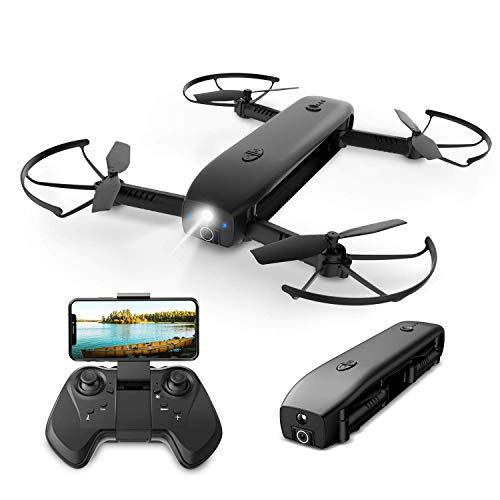 Holy Stone HS161 FPV RC Mini Drohne faltbar mit 1080P Kamera HD Live Übertragung,Quadrocopter ferngesteuert mit Langer Flugzeit,App Steuerung,Pocket Video Drohne mit Powerbank,Höhenhaltung für Kinder