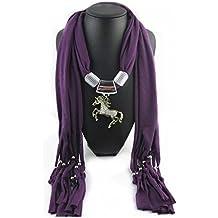 44b6580e5e6c Jelinda femmes cheval Jewelry Écharpe longue pour pompons châle foulards