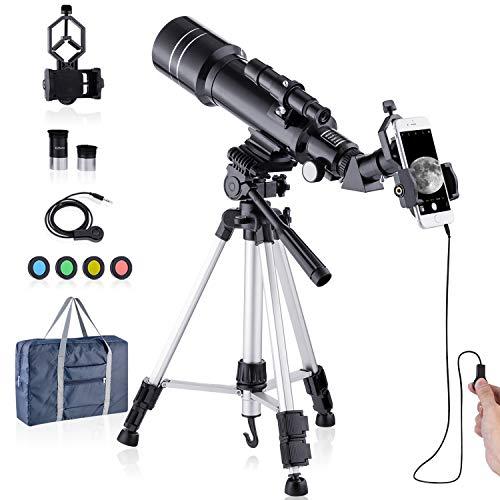 Télescope HD Amélioré 400/70mm pour Enfants Adultes Télescope...
