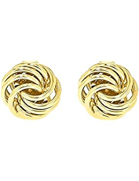 Carissima Gold Damen-Ohrstecker 18ct Mini Rose Stud Earrings 750 Gelbgold - 7.55.2219