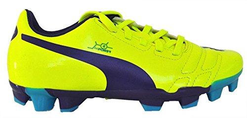 Puma Kinder-Unisex   EvoPower 4 Fg Jr   Fußballschuhe   Gelb-Violet-Blau   Größe 34.5EU (Frauen-fußball-rasen-schuhe)