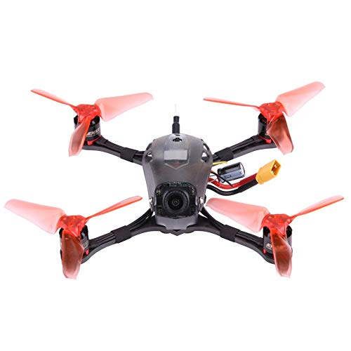Racing Drone, RS1106 4500KV Motores 40CH EMAX Tiny Receiver Racing Drone Frame Kit con Ajustable HD Cámara(PNP)