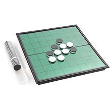 Azerus Línea Standard: Reversi clásico, tablero con piezas magnéticas, tamaño estándar M (25cm x 25cm x 2cm), tablero de metal sirve también de caja para el ...