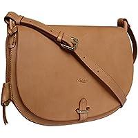 7634f2df40 Boldrini Eva Italian Leather Cross Body Large Saddle Style Bag