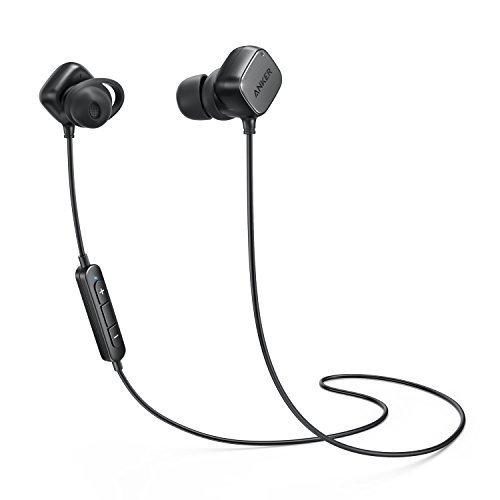 Anker SoundBuds Tag In Ear Bluetooth Kopfhörer Kabellose magnetische Kopfhörer mit aptX Technologie, CVC 6.0 Noise Cancelling, 6 Stunden Spielzeit, Headset mit Mikrofon (Schwarz) (Kleine Headset Ohren Bluetooth Für)