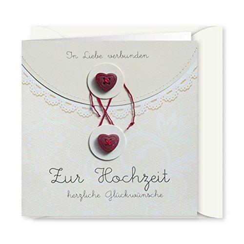 Knopfkarte 29 - In Liebe verbunden - Hochzeitskarte