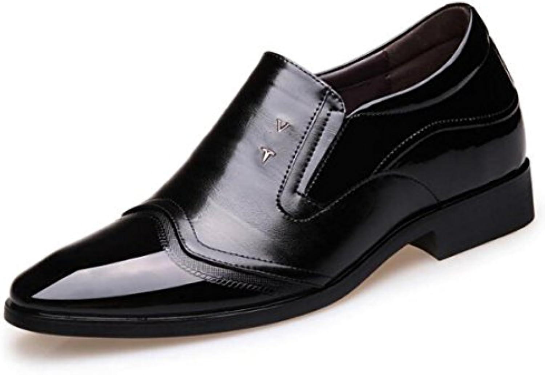 LYZGF Männer Gentleman Business Mode Lederschuhe Formelle Kleidung Erhöhung Spitzschuh