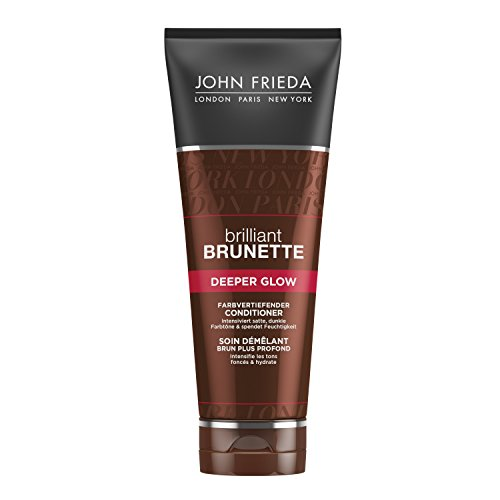 John Frieda Brilliant Brunette Deeper Glow Farbvertiefender Conditioner, 2er Pack (2 x 250 ml)