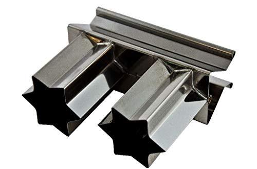 Zimtsternausstecher, doppelt Zimtstern Metall 5cm, Klipp-Klapp, Weihnachtsausstecher