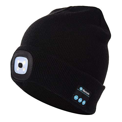 Bluetooth Beanie Music Hat mit LED-Licht Windproof und Snowproof Headset  Musik Kopfbedeckungen Cap mit 23b5f7de75a