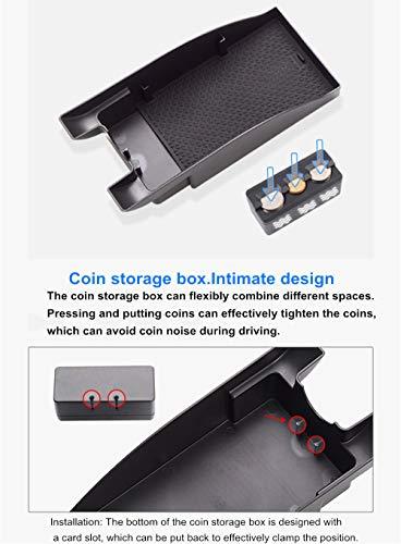 Per Tucson 2019(Non adatto MT) Scatola di immagazzinaggio centrale Vano portaoggetti secondario Armrest Box Storage Box inserto vassoio ABS