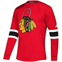 adidas Chicago Blackhawks NHL Platinum Long Sleeve Trikot Rot