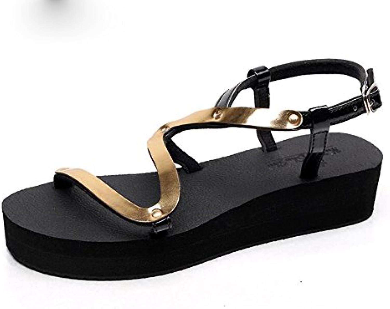 Chanclas MEIDUO sandalias Sandalias Planas Del Verano Zapatos Del Estudiante De La Manera Zapatos Antideslizantes...
