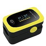 Vingertop Pulse Oximeter, LED digitale display-oximeter voor het meten van de polsslag Bloedzuurstofverzadiging Afdeling bewaking Thuiszorg SpO2 Monitor meetmeter (Kleurenscherm)