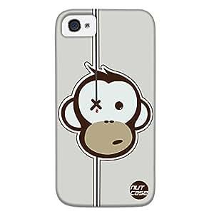 Designer iPhone 4s Case Cover Nutcase - Funny Monkey