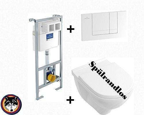 Villeroy & Boch WC Element Vi-Connect + Combi-Pack Spülrandlos O.Novo