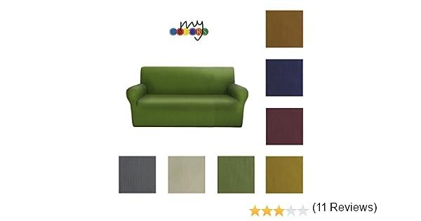 Colore da scegliere con una mail Copridivano 2 posti in tessuto elastico Made in Italy da 110cm a 1500cm