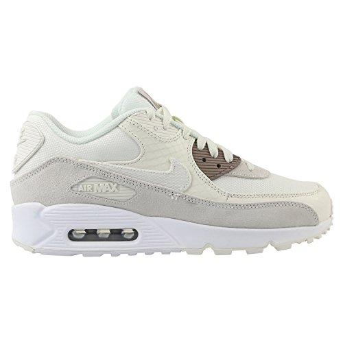Nike Herren Air Max 90 Premium Beige Leder/Synthetik/Textil Sneaker - Max Premium Nike Air 90 Herren